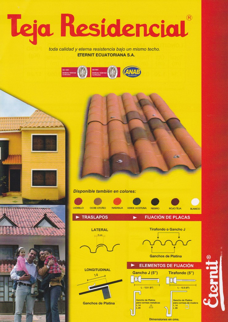 Teja residencial - Precio de tejas ...